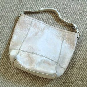 Cole Haan Large off-white Pebble-Leather Bag